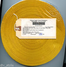 "Yellow Nylon Textile Tape Twill Weave Flat 5/8"" x 200 yards"