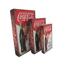 Coca Cola Coke Book Storage Box Decorative Classic Vintage Retro Bar Man Cave