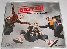 BUSTED - WHAT I GO TO SCHOOL FOR CD1 - 2002 ENHANCED CD SINGLE - NEAR MINT!!!!!!