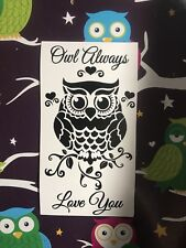 Owl Always Love You Wine Bottle Vinyl  Decal - Valentines