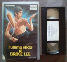VHS FILM Ita Azione/Arti Marziali L'ULTIMA SFIDA DI BRUCE LEE no dvd(VH14)
