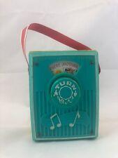 Vintage Fisher Price Pocket Radio Music Box , Turquoise 1966