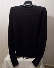 Mens Black L Gander Mountain Sweater 100% Cotton Crew Neck Long Sleeve