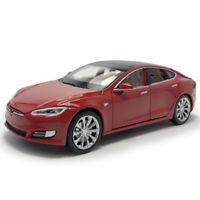 Tesla Model S 100D 1:32 Die Cast Modellauto Auto Spielzeug Model Sammlung Rot