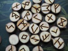 Hawthorn Wood Elder Futhark Runes - with Bag & Information sheet, Witchcraft