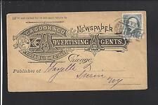 CHICAGO,ILLINOIS1CT BANKNOTE, FULL ADVT.  C.A.COOK & CO. NEWSPAPER ADVERTISING.