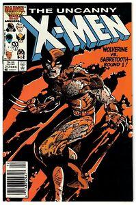 Uncanny X-Men (1963) #212 Barry Smith Cov Wolverine VS Sabretooth Newsstand VF+