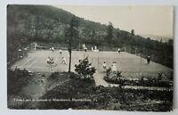 Playing Tennis in Mountainhome, PA Postcard -Monomonock Inn- vtg photo postcard