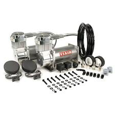 VIAIR 380C DUAL PACK PEWTER AIR RIDE BAG SUSPENSION COMPRESSOR PUMP TRAIN ROD
