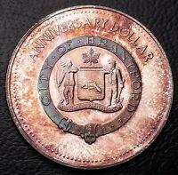1977 Brantford Ontario Souvenir Dollar ***RARE PURE SILVER VARIETY*** 155 Minted