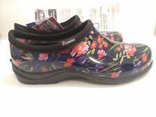 Sloggers Womens Fresh Cut Navy Floral Waterproof Garden Clogs, Sz. 9