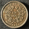 Canada 1838 Half Penny Token Un Sou LC-5A3 / Breton 715 / J-038