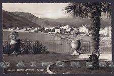 GENOVA SESTRI LEVANTE 117  SPIAGGIA Cartolina FOTOGRAFICA viaggiata 1946