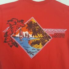New listing Vtg 80s Op Ocean Pacific T-Shirt L Red Wind Surfing Hawaii Double Sided Surf Usa