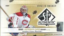2012-13 SP Authentic Factory Sealed Hockey Hobby Box  3 AUTOS  Per Box
