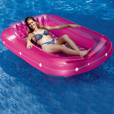 Inflatable Swimming Pool Tub Float Water Bed Lounge Summer Pink Teens Girl 71in
