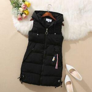 2021 New Womens Down Cotton Vest Hooded Coat Sleeveless Waistcoat Student Jacket