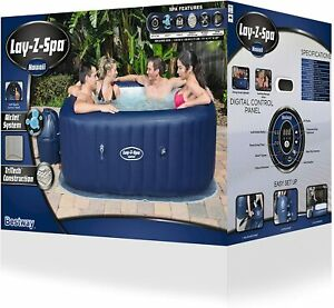 Lay-Z-Spa Hawaii AirJet 4-6 Person Hot Tub with LED Lights Freeze Shield Lazy