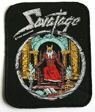 SAVATAGE Old OG Vtg 1980`s Printed Patch/Aufnäher/écusson/Parche RARE(NOT shirt)