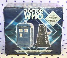 Doctor Who TARDIS & DALEK Porcelin Figurines Action Figures Statue SALT PEPPER