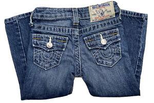 TRUE RELIGION Toddler Unisex Sz 3T Straight Leg Blue Denim Jeans (a)