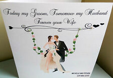 HANDMADE HUSBAND TO BE WEDDING CARD, CAN BE PERSONALISED WITH NAMES AND DATES
