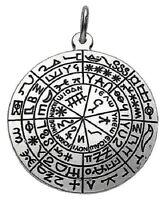 Salomons Schild vergoldet emailliert Schutz Amulett 30 mm Talisman Anhänger