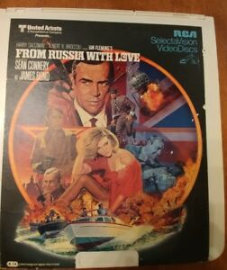 Vintage From Russia With Love James Bond 007 Sean Connery Laserdisc