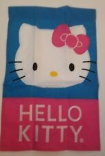 """HELLO KITTY Embroidred Garden Flag  Blue and Pink 12"""" x 18"""""""