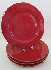 "VIETRI Italy Lastra Red 12"" Dinner Plates Set of 4"