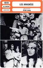 LES ARAIGNEES - Fritz Lang (Fiche Cinéma) 1919 - The Spiders