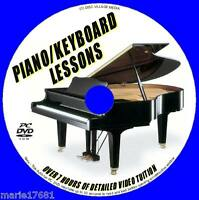 LEARN KEYBOARD PIANO LESSONS STEP BY STEP 7+ HRS GOOD PIANO TUITION PC DVD-ROM