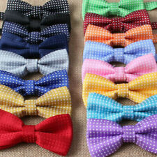 New Baby Toddler Boys Pre Tied Jacquard Weave Spotty Bow Tie Dickie Bow **UK**