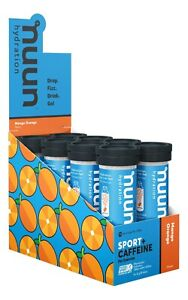 NUUN HYDRATION SPORT + CAFFEINE TABLETS X 8 MANGO ORANGE - BB 04/21 SAVE 50%