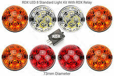 8 RDX Td5 Tdci Puma LED STANDARD SIZE Light/lamps Kit Defender Amber Lenses