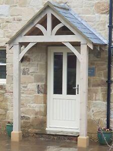"""REDWOOD PORCH FRONT DOOR CANOPY HANDMADE IN SHROPSHIRE """"Grosvenor"""" NOT OAK"""