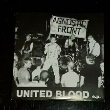 "AGNOSTIC FRONT – United Blood 7"" EP, reissue VG+/VG++, NYHC punk hardcore"