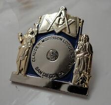 ZP71 Freemason Masons Alter lapel pin badge Crystal San Diego