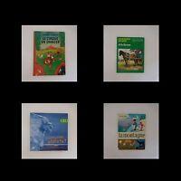 4 livres jeunesse CIRQUE FERME MONTAGNE PLANETE vintage 1957-2004
