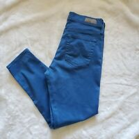 AG Adriano Goldschmied High Rise Skinny Jeans Farrah Ankle Crop Size 29 Cyan