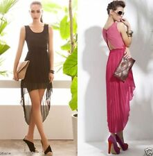 Polyester Asymmetrical Hem Unbranded Machine Washable Dresses for Women