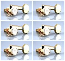6 inLine NEW Wilkinson WJ07 Tuners Machine heads for Strat or Tele Gold