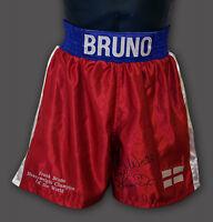 Frank Bruno Hand Signed Custom Made Boxing Trunks : A