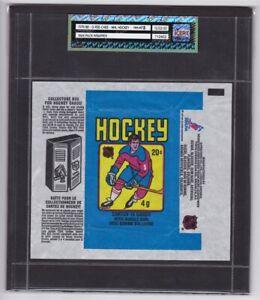 1979-80 O-Pee-Chee NHL Hockey Wax Pack Wrapper iCert Grade NM-MT 8 Gretzky