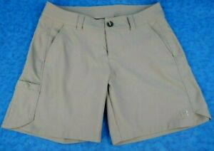UNDER ARMOUR Womens Cargo Shorts SIZE 8 Heat Gear Storm 1 Gray Polyester