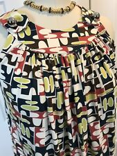 NWOT M MISSONI SLEEVELESS MULTI COLOR TANK TOP CAMI BLOUSE Sz SMALL **ITALY**