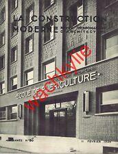 La construction moderne 21 - 18/02/1934 Baule-les-Pins Gare Cherbourg Chauffage
