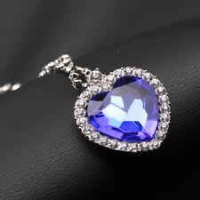 New Blue Heart Ocean Pendant Necklace Cosplay Prop Best Gift