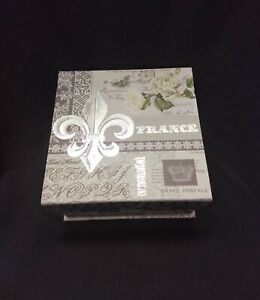 New Keepsake Box Fleur-De-Lis PAULA SCALETTA Design     BP