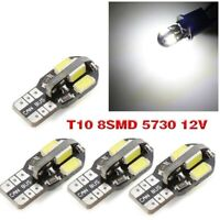 T10 CAR BULBS LED ERROR FREE CANBUS 8 SMD XENON WHITE W5W 501 SIDE LIGHT BULB
